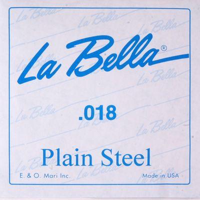 Отдельная стальная струна La Bella PS018 без оплетки, 018 - Фото 1