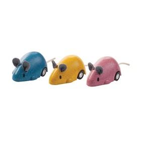 Заводная деревянная игрушка «Мышка»