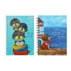 Блокнот для зарисовок А5, 60 листов, на гребне Sketchbook «Милые Открытки», твёрдая обложка, ламинация