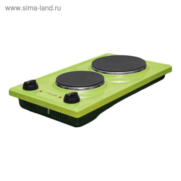 """Плитка электрическая """"Лысьва"""" ЭПЧ 2-2,2/220, 2200 Вт, 2 конфорки, зеленое яблоко"""