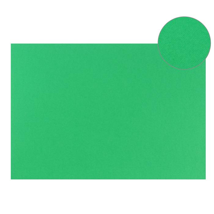 Картон цветной, Двусторонний: текстурный/гладкий, 210 х 297 мм, Sadipal Fabriano Elle Erre, 220 г/м, зелёный, VERDE