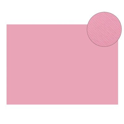 Картон цветной, двусторонний: текстурный/гладкий, 210 х 297 мм, Sadipal Fabriano Elle Erre, 220 г/м, розовый, ROSA
