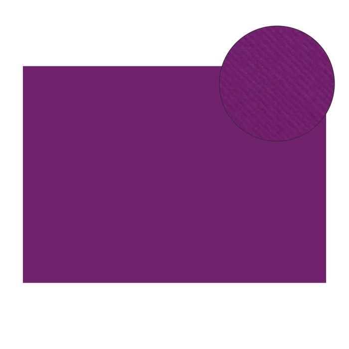 Картон цветной, двусторонний: текстурный/гладкий, 210 х 297 мм, Sadipal Fabriano Elle Erre, 220 г/м, фиолетовый, VIOLA
