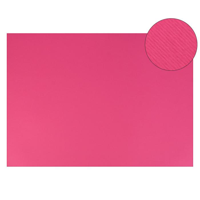 Картон цветной, Двусторонний: текстурный/гладкий, 210 х 297 мм, Sadipal Fabriano Elle Erre, 220 г/м, фуксия, FUCSIA