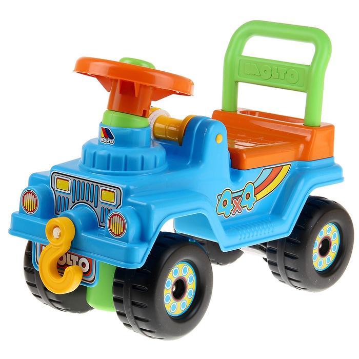 Каталка Джип 4х4 (голубой) 62789