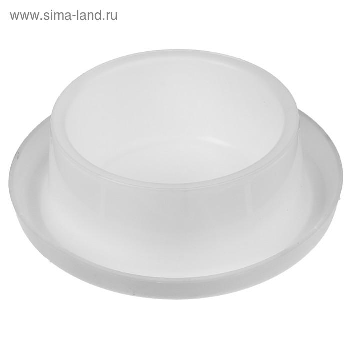 Миска универсальная, круглая на противоскользящей основе, 400 мл, белая