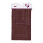 Коврики для ванной Chequers, размер 40х60, 60х100, цвет коричневый
