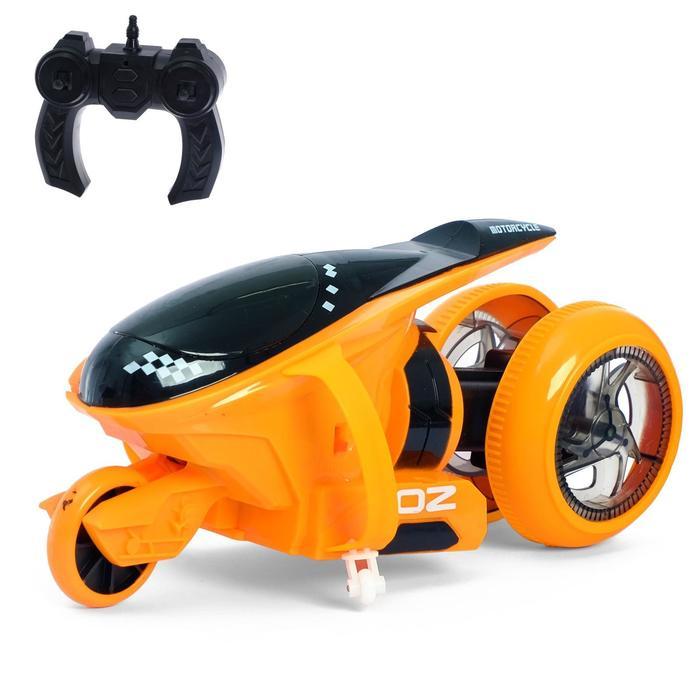"""Мотоцикл-перевертыш """"OZ"""", на радиоуправлении, работает от аккумулятора, световые эффекты"""