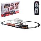Железная дорога «Классика», радиоуправление, свет и звук, с дымом, работает от аккумулятора