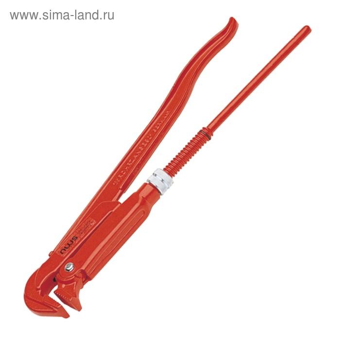 "Ключ трубный NWS 168-1,5-430, рычажный, 90°, 1"", 1/2"", №4"