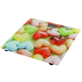 Весы напольные Irit IR-7259, электронные, до 180 кг, рисунок 'сладкие сердца' Ош