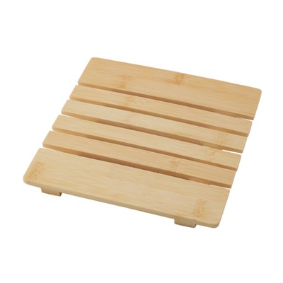 Подставка под горячее, бамбук, 18 х 18 х 1,2 см - Фото 1
