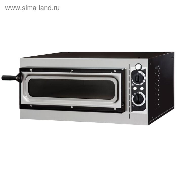 Печь для пиццы Gemlux GEP 1/40 VETRO, 1600 Вт, 50-320°С, 1 модуль, серебристая