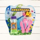 """Аквапесок """"Веселая ферма"""", набор: песок зеленый 100 гр, гидрогель 15 гр, лопатки, игрушки"""