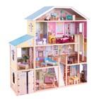 Большой кукольный дом для Барби «Королевский особняк», 34 элемента мебели