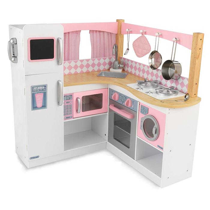 Большая детская кухня для девочек «Изысканный уголок»