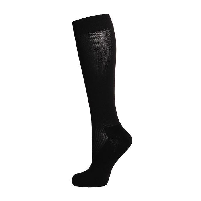 Гетры спортивные «Спорт 1», размер 35-37, цвет чёрный