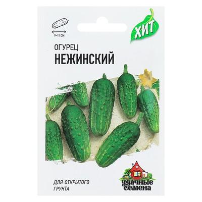 """Семена Огурец """"Нежинский"""", раннеспелый, пчелоопыляемый, 0,5 г  серия ХИТ х3 - Фото 1"""