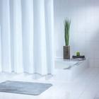 Штора для ванной комнаты Standard, цвет белый 180х200 см