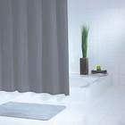 Штора для ванной комнаты Standard, цвет серый /серебряный 180х200 см