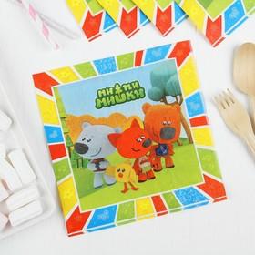 Салфетки бумажные «Ми-ми-мишки», набор 12 шт., 33х33 см