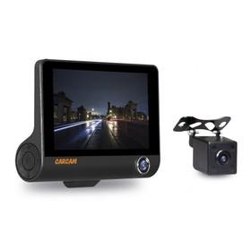 """Видеорегистратор Carcam Каркам D3, три камеры, 4.5"""" сенсор, 140°, 1280x720"""