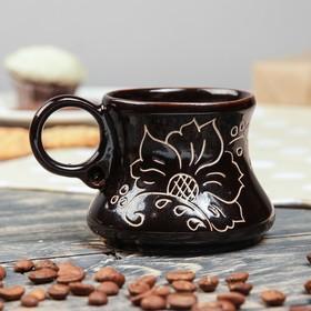 """Чашка кофейная """"Цветы"""", 0.2 л"""
