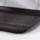 Поднос прямоугольный 36,5х27 см, цвет коричневый - Фото 3