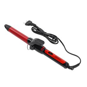 Плойка ENERGY EN-869, 25 Вт, d=25 мм, керамическое покрытие, черно-красная Ош
