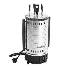 Электрошашлычница ENERGY НЕВА-1, 1000 Вт, 5 шампуров, серебристая Ош