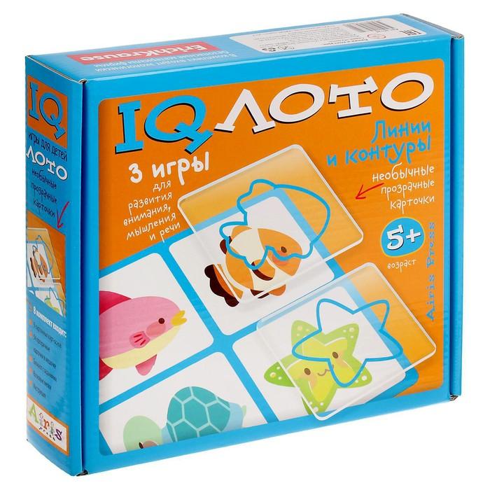 Лото пластиковое «Линии и контуры», комплект из трёх игр