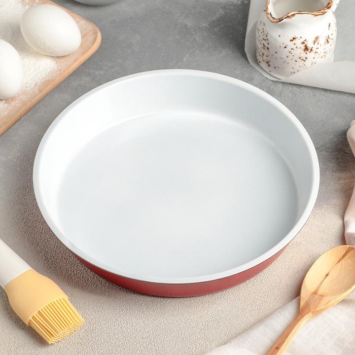 Форма для выпечки Доляна «Флёри», 24×4 см, керамическое покрытие, цвет МИКС