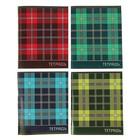 Тетрадь 96 листов в линейку Calligrata «Шотландка», 2 блока, обложка из картона, микс