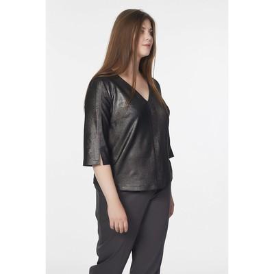Блуза женская, размер 58, цвет серебристо-чёрный - Фото 1