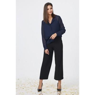 Блуза женская, размер 48, цвет тёмно-синий - Фото 1