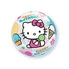 """Шар полимерный 22"""" BUBBLE """"С днём рождения!"""", Hello Kitty, прозрачный"""