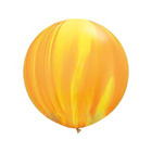 "Шар латексный 30"" ""Суперагат"", цвет жёлтый/оранжевый"