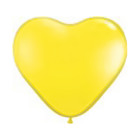"""Шар латексный 6"""" """"Сердце"""", пастель, набор 100 шт., цвет жёлтый"""