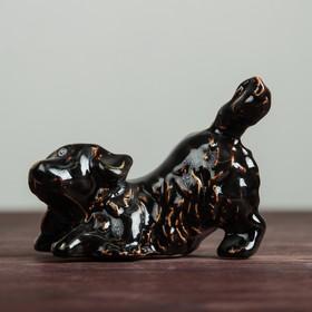 Сувенир 'Песик', глянец, чёрный, 9 см Ош