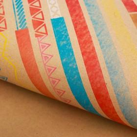 Бумага крафт «Цветные полоски», 50 х 70 см Ош