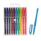 Набор гелевых ручек, 10 цветов, корпус цветной с белыми вставками, в блистере