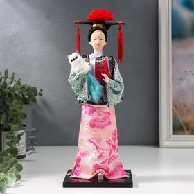 Кукла коллекционная 'Китаянка в национальном платье с собакой' 32х12,5х12,5 см Ош