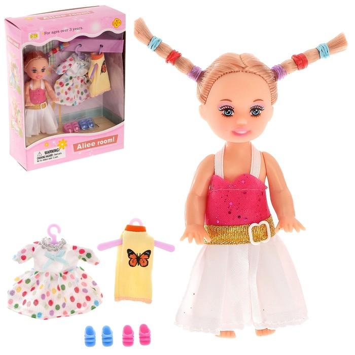 """Кукла малышка """"Алина"""" с пони, МИКС"""