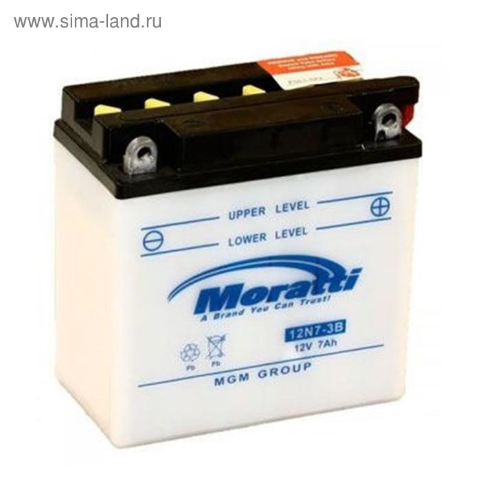 Аккумуляторная батарея Moratti 7 Ач 12N7-3B, обратная полярность (ME1207)