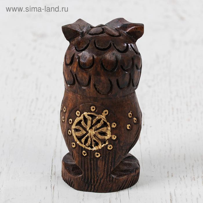 """Сувенир дерево """"Филин"""" 7,5х5х5 см"""