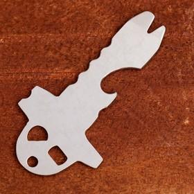 Многофункциональное карманное устройство-открывашка металл 8*4,5см Ош