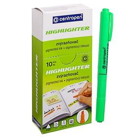 Маркер-текстовыделитель 4.0 мм Centropen 8722, флуоресцентный зелёный