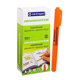 Маркер-текстовыделитель 4.0 мм Centropen 8722, флуоресцентный оранжевый