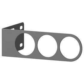 Вешалка для плечиков КОМПЛИМЕНТ, 17x5 см, темно-серый