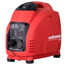 Генератор KRONWERK LK 2500i, инверторный, 2.5 кВт, 220 В, бак 5,7 л, ручной старт